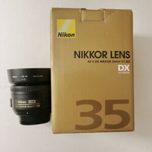 Nikon AF-S NIKKOR 35mm f/1.8G DX Prime Lens Excellent Condition