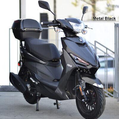 99% Assembled 49cc Gas Scooter Moped LED Light KANDA Tires Remote Alarm USB 50cc