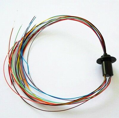 12.5mm 300rpm Capsule Tiny Slip Ring 12 Circuits Wires2a 240v Test Equipment