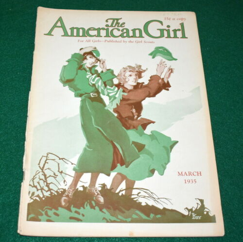 VINTAGE  GIRL SCOUT - 1935 AMERICAN GIRL - MARCH