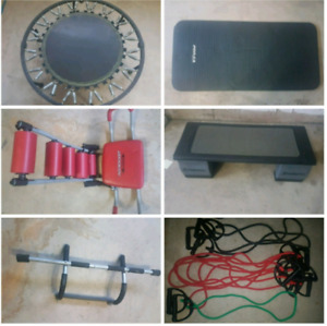 Exercise equipment package