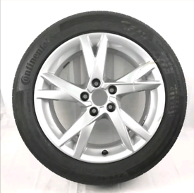 Audi A4 17 inch alloy wheel & Continental tyre