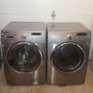 Stainless steel steam washer and dryer