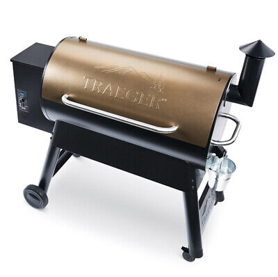 Traeger Pro Series 34 Wood Pellet Freestanding Grill TFB88PZB Bronze Freestanding Wood Grill