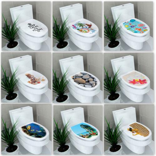 Home Decoration - UK Stock Toilet Seat Wall Sticker Bathroom Decoration Decal Vinyl Mural Decor
