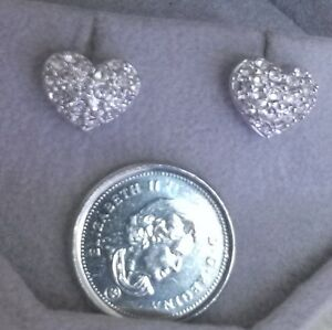 END OF THE MONTH SALE on SWAROVSKI HEART EARRINGS....MARKED