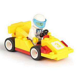 LEGO COMPATIBLE: YELLOW RACE CAR - NEW!!!