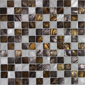 WHITE MOTHER OF PEARL mosaic back splash wall tiles Square
