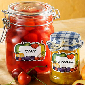 WENKO Einmachetiketten Marmelade Etiketten Haushaltsetiketten 200 Stück NEU
