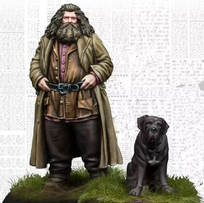 1//35 Resin Figure Model Kit Big Man with a Dog Harry Potter Unpainted Unassamble