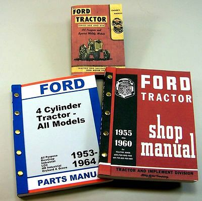 Lot Ford 600 800 Series Tractor Owner Operator Parts Service Repair Shop Manuals