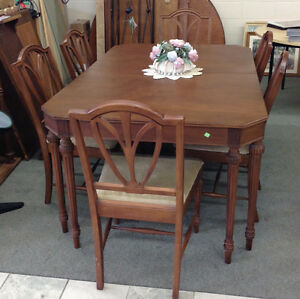 Walnut Dining Set for Sale at Habitat for Humanity