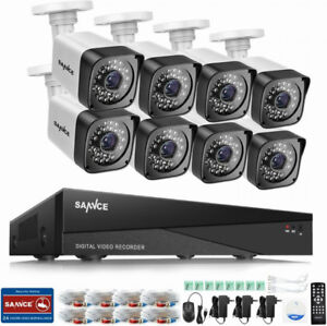 8CH 1080N Security Camera Video DVR and (8) 720p HD Weatherproof