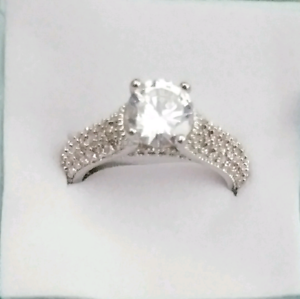 925 Sterling silver...white sapphire Engagement ring
