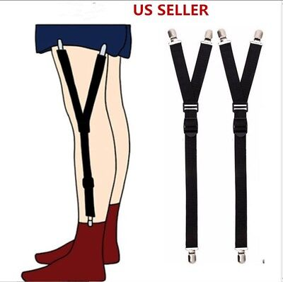 US Luxury Military Y Style Shirt Holders Uniform Shirt Stays Keepers Garters