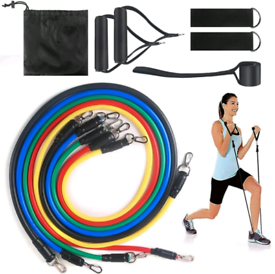 Resistance bands 11 piece 100lb strength