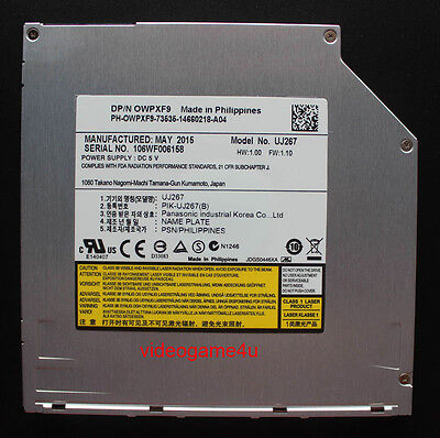 9.5mm Slot Load Blu-ray BD-RE Burner Drive UJ267 For Dell Apple Macbook Pro New ()