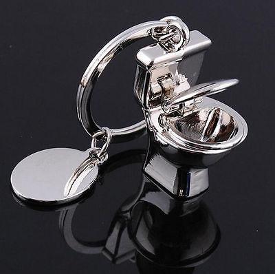 Love Gift Cute Toilet Pendant Key Chain Ring Keychain Keyfob Couple Keyring (Key Chain Rings)