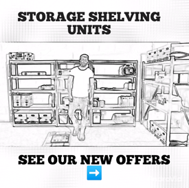 SHELVING STORAGE UNIT, GARAGE, SHED, CONTAINER, OFFICE, TOOLS, CHEAP