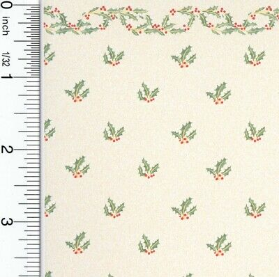Dollhouse Wallpaper Christmas Holly