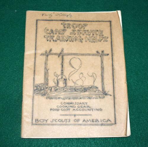 VINTAGE BOY SCOUT - TROOP CAMP SERVICE TRAINING HELPS BOOKLET - c.1930