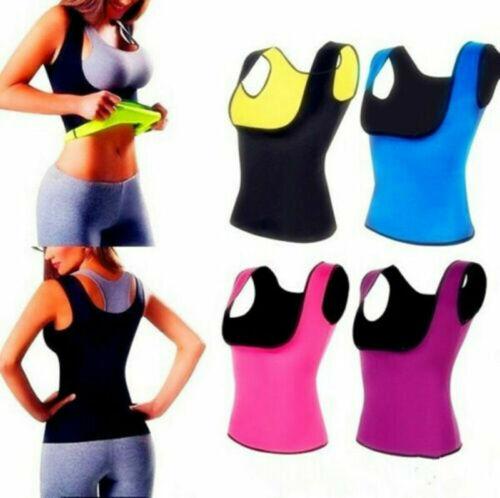 Hot US Sweat Sauna Body Shaper Women Slim TEE Vest Thermo Neoprene Waist Trainer
