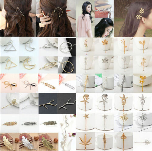 Mode Damen Haarspange Haarnadel Haarklammer Gold Silber Geometrisch Haarschmuck