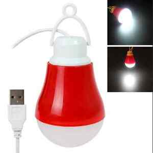 USB LED Bulb Light 5W White Light DC 5V 1.1m cable Portable Lamp