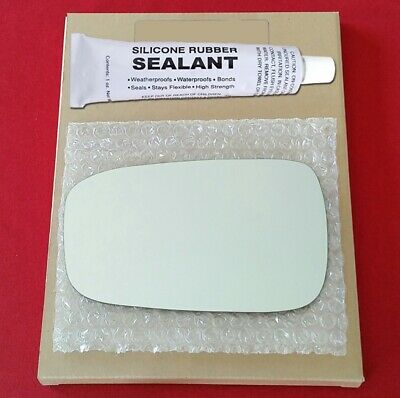Mirror Glass Replacement + Silicone Adhesive For Honda Accord 03-07 Driver