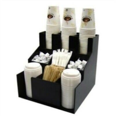 Cup Lid Dispenser Organizer Coffee Condiment Holder Caddy Coffee Cup Rack N Zk