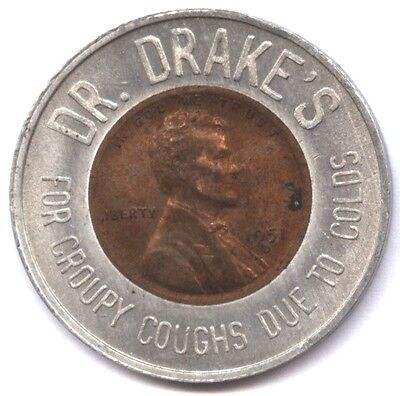 DR DRAKES COUGH RELIEF MEDICINE TOKEN * ENCASED 1951-D LINCOLN CENT