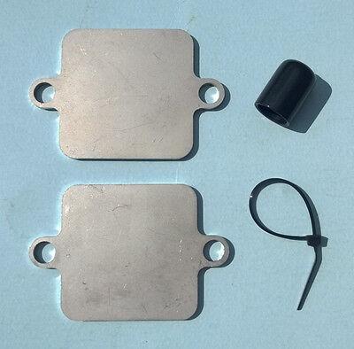 Yamaha Kawasaki R1 R6 ZX6 ZX10R Smog Block Off Plates Kit Blocker