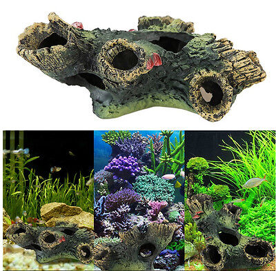 Tree Trunk Aquarium Ornament Root Drift Wood Hide Log decoration fish tank moss