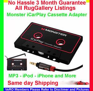 monster icarplay cassette 800 tape adapter ipod iphone mp3. Black Bedroom Furniture Sets. Home Design Ideas