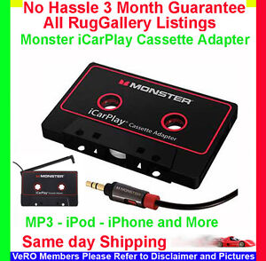 Monster-iCarPlay-Cassette-800-Tape-Adapter-iPod-iPhone-MP3-Player-AUX-Auxiliary