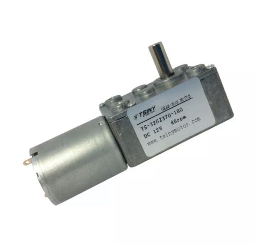 24V,10RPM Speed Reduction Motor,Micro Type DC Speed Reduction Motor Large Torsion Worm Gear Motor 24V for Multiple Purposes