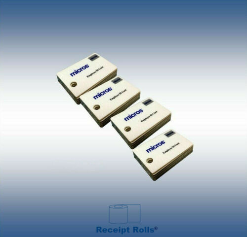 100 Genuine Micros Oracle Magnetic Stripe Employee Swipe ID Cards
