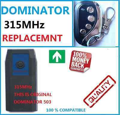 DOMINATOR DOM503 GARAGE DOOR REMOTE CONTROL 315MHz ROLLER DOOR OPENER