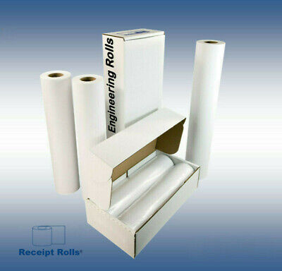 36 X 500 Wide Format Engineering Plotter Paper Rolls With 3 Core - 2 Rolls