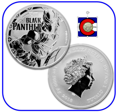2018 Tuvalu Marvel Black Panther 1 oz Silver Coin in Mint Capsule