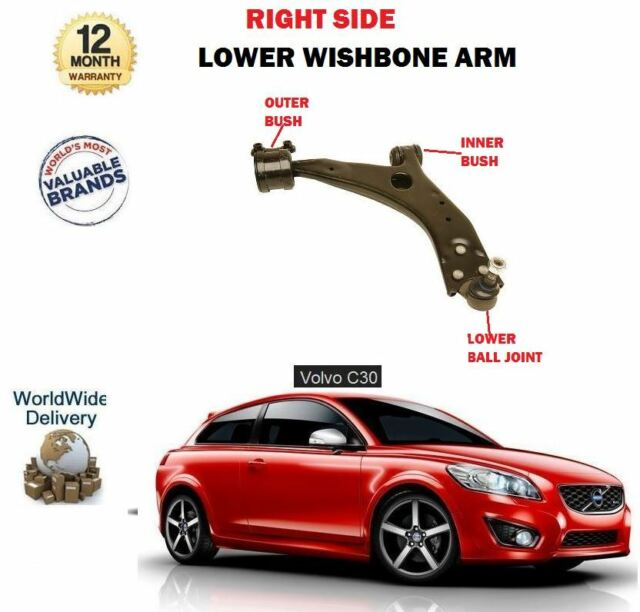 FOR VOLVO C30 2006-2012 NEW 1 X FRONT RIGHT SIDE LOWER WISHBONE SUSPENSION ARM