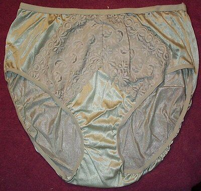 3 Pair Moka Size 8 Nylon High Cut Brief Panties Sexy Lace Made in USA