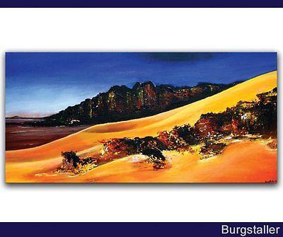 BURGSTALLER ORIGINAL Gemälde Bild Kunst Malerei Painting Unikat Wüste SAHARA 2