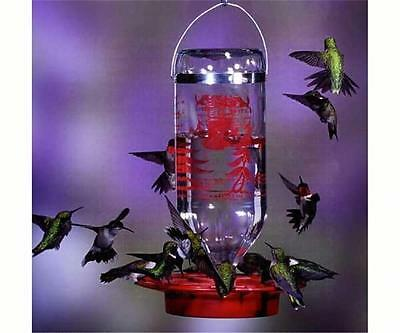 BEST-1 HUMMINGBIRD FEEDER with 32 oz. GLASS BOTTLE, Made in