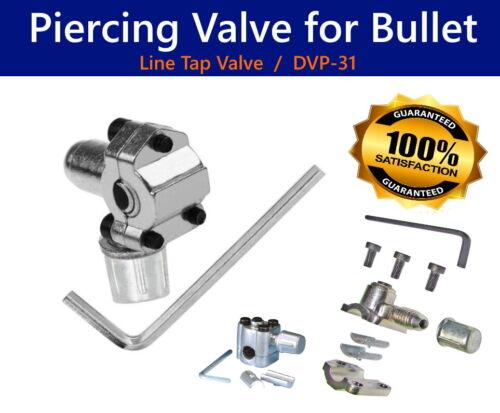 "NEW Piercing Valve fo Bullet - 1/4"", 5/16"", 3/8""  Tubing - DVP 31"