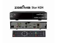 Zgemma H2H or H4 w/ 12m cable sat gift warranty 12 month H.2H 1 year VM combo twin tuner box