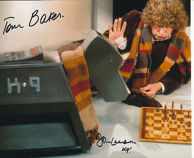 Tom Baker and John Leeson In Person Signed Photo - Doctor Who - AG210