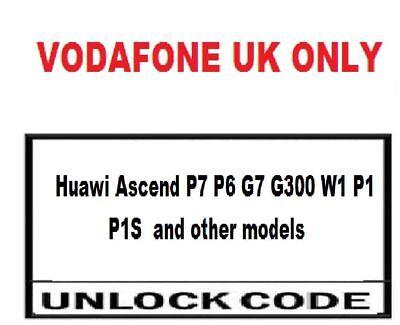 Vodafone UK Huawei P9 Plus Unlock Codes Vodafone UK only