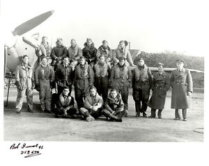 10 x 8 Battle of Britain RAF photo WWII 253 squadron signed INNES