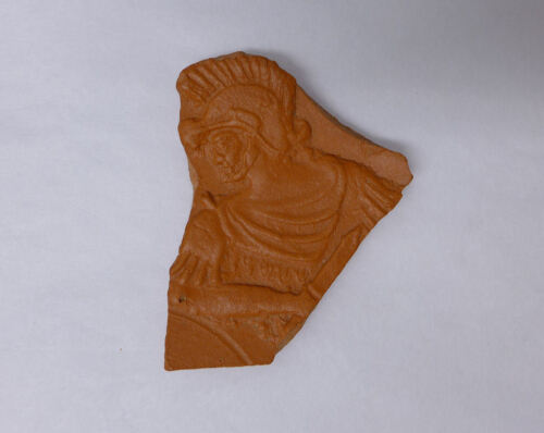 Roman red-ware plate fragment North Africa Soldier